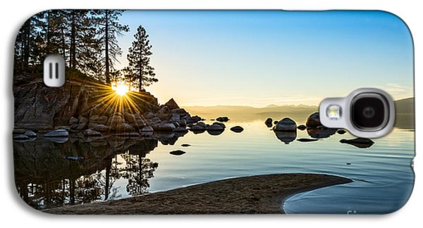 Rock Galaxy S4 Cases - The Cove at Sand Harbor Galaxy S4 Case by Jamie Pham
