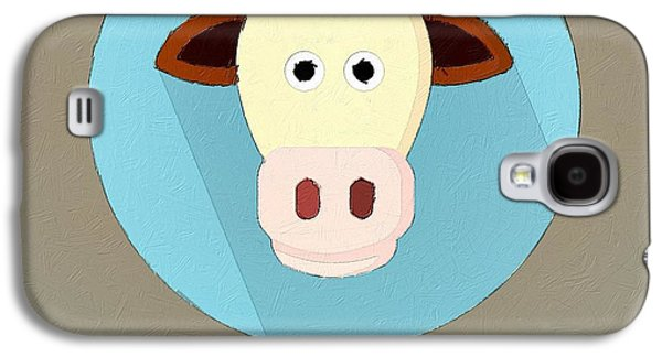 Cow Digital Galaxy S4 Cases - The Cow Cute Portrait Galaxy S4 Case by Florian Rodarte