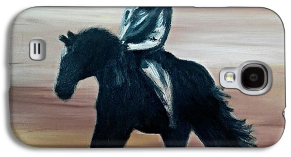 Courage Paintings Galaxy S4 Cases - The Cowboy and Horse Galaxy S4 Case by Isabella F Abbie Shores LstAngel Arts