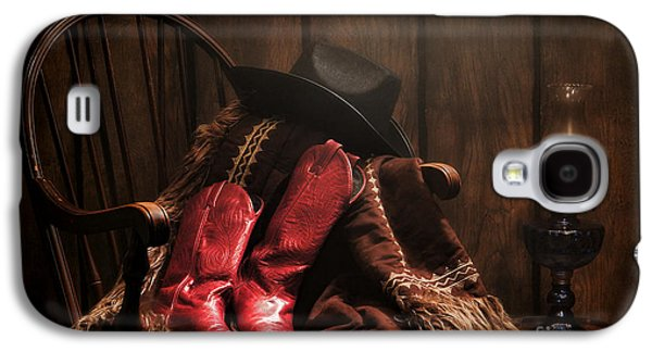 Folklore Galaxy S4 Cases - The Cowgirl Rest Galaxy S4 Case by Olivier Le Queinec