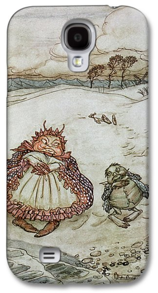 Fantasy Photographs Galaxy S4 Cases - The Crab And His Mother, Illustration From Aesops Fables, Published By Heinemann, 1912 Colour Litho Galaxy S4 Case by Arthur Rackham
