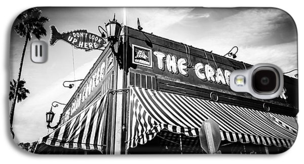 Business Galaxy S4 Cases - The Crab Cooker Newport Beach Black and White Photo Galaxy S4 Case by Paul Velgos