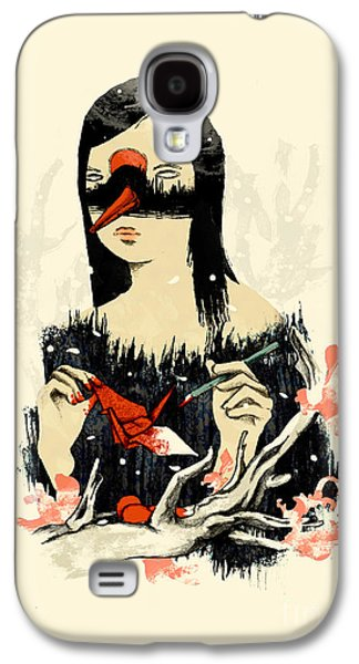 Wife Galaxy S4 Cases - The Crane Wife Galaxy S4 Case by Budi Satria Kwan