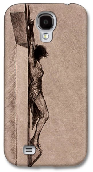 Saviour Drawings Galaxy S4 Cases - The Cross 2 Galaxy S4 Case by Derrick Higgins