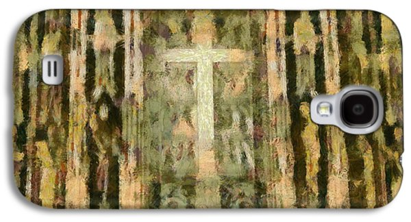 The Church Mixed Media Galaxy S4 Cases - The Cross Galaxy S4 Case by Dan Sproul