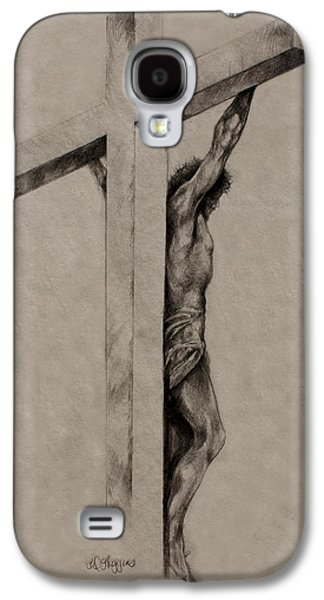 Religious Drawings Galaxy S4 Cases - The Cross Galaxy S4 Case by Derrick Higgins