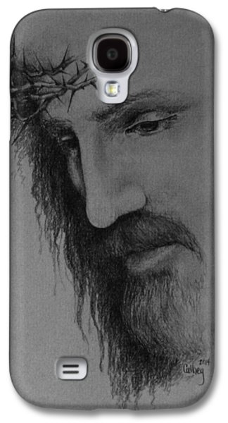 Jesus Drawings Galaxy S4 Cases - The Crown Galaxy S4 Case by Catherine Howley