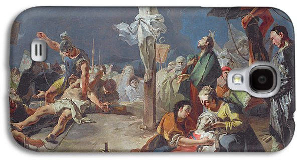 Crying Paintings Galaxy S4 Cases - The Crucifixion Galaxy S4 Case by Giovanni Battista Tiepolo