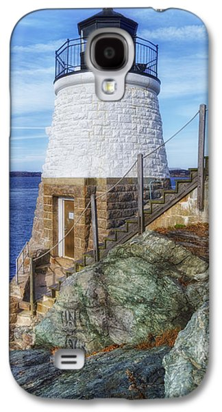 Fantasy Photographs Galaxy S4 Cases - Castle Hill The Cutest Lighthouse in the World Galaxy S4 Case by Joan Carroll