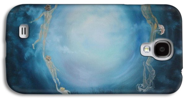 Headstones Paintings Galaxy S4 Cases - The Cycle of Life Galaxy S4 Case by Jean Walker