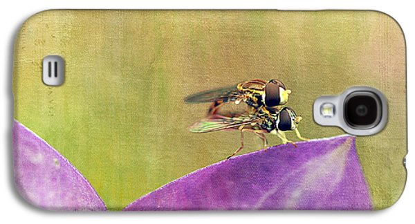 Maine Meadow Galaxy S4 Cases - The Dance of the Hoverfly Galaxy S4 Case by Cindi Ressler