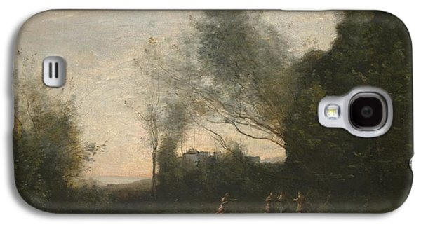 Landscapes Photographs Galaxy S4 Cases - The Dance Of The Nymphs, 1865-70 Oil On Canvas Galaxy S4 Case by Jean Baptiste Camille Corot