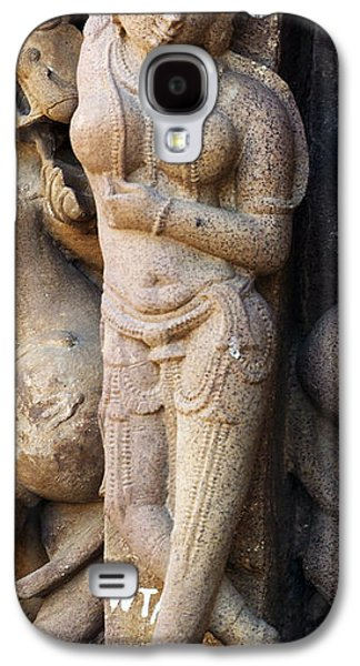 Khajuraho Dancer Galaxy S4 Cases - The Dancer in Stone Cropped Galaxy S4 Case by C H Apperson