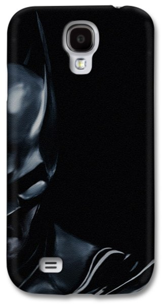 Character Portraits Paintings Galaxy S4 Cases - The Dark Knight Galaxy S4 Case by Jeff DOttavio