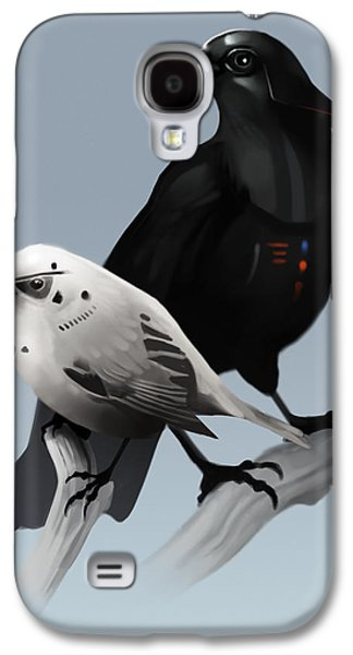 Crows Paintings Galaxy S4 Cases - The Dark Side of the Flock Galaxy S4 Case by Michael Myers