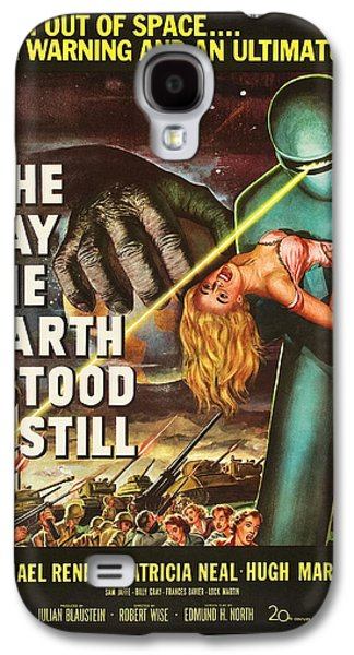 Science Fiction Drawings Galaxy S4 Cases - The Day The Earth Stood Still Galaxy S4 Case by MMG Archives