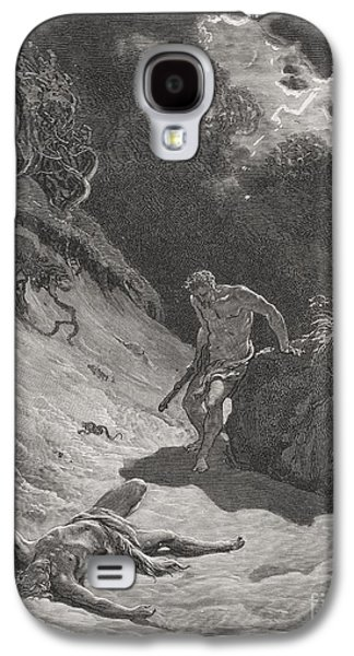 Religious Drawings Galaxy S4 Cases - The Death of Abel Galaxy S4 Case by Gustave Dore