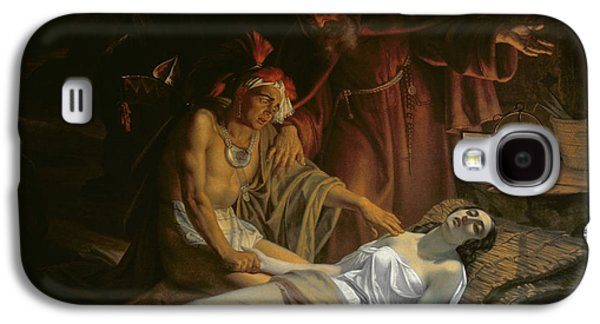 Novel Paintings Galaxy S4 Cases - The Death of Atala Galaxy S4 Case by Cesare Mussini