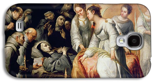 Crying Paintings Galaxy S4 Cases - The Death of Saint Clare Galaxy S4 Case by Bartolome Esteban Murillo