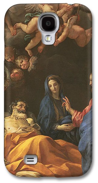 Saint Joseph Galaxy S4 Cases - The Death of Saint Joseph Galaxy S4 Case by Carlo Maratta