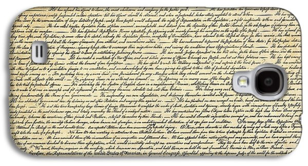 Founding Fathers Mixed Media Galaxy S4 Cases - The DECLARATION of INDEPENDENCE Galaxy S4 Case by Daniel Hagerman