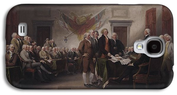 Benjamin Franklin Galaxy S4 Cases - The Declaration Of Independence, July 4, 1776, 1817 Oil On Canvas Galaxy S4 Case by John Trumbull
