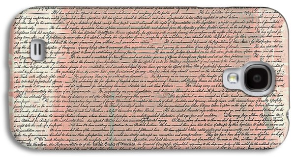 4th July Galaxy S4 Cases - The Declaration of Independence Galaxy S4 Case by Stephen Stookey