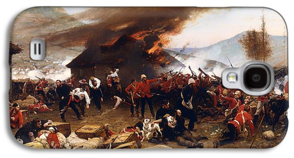 Tribe Paintings Galaxy S4 Cases - The Defence of Rorkes Drift 1879 Galaxy S4 Case by Alphonse de Neuville