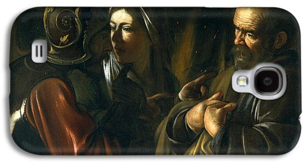 Caravaggio Galaxy S4 Cases - The Denial of Saint Peter Galaxy S4 Case by Caravaggio