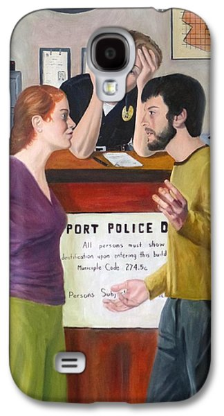 Law Enforcement Paintings Galaxy S4 Cases - The Desk Officer Galaxy S4 Case by Joseph Wheatley