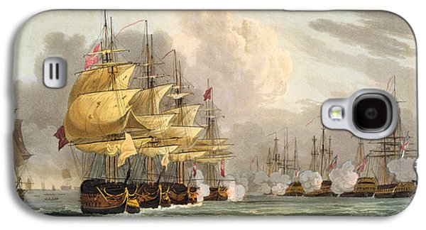 Historic Ship Galaxy S4 Cases - The Destruction Of The Danish Fleet Galaxy S4 Case by Thomas Whitcombe