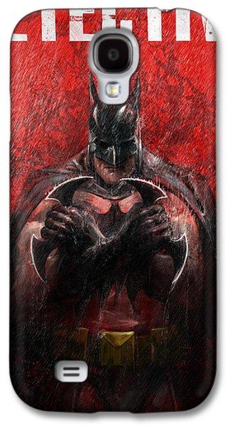Bat Digital Art Galaxy S4 Cases - The Detective Galaxy S4 Case by Steve Goad
