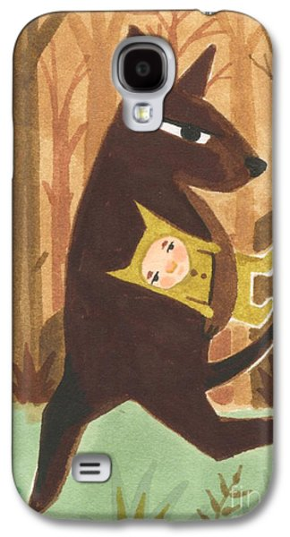 Earth Tones Drawings Galaxy S4 Cases - The Dingo Stole My Baby Galaxy S4 Case by Kate Cosgrove