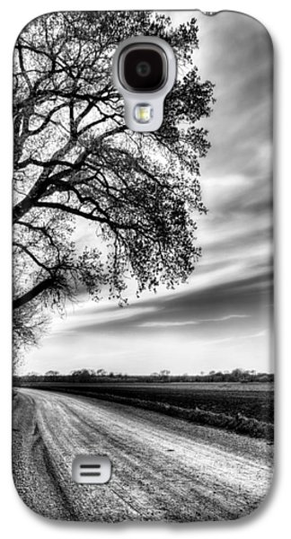 Country Dirt Roads Galaxy S4 Cases - The Dirt Road in Black and White Galaxy S4 Case by JC Findley