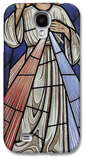 Religious Glass Art Galaxy S4 Cases - The Divine Mercy Galaxy S4 Case by Gilroy Stained Glass