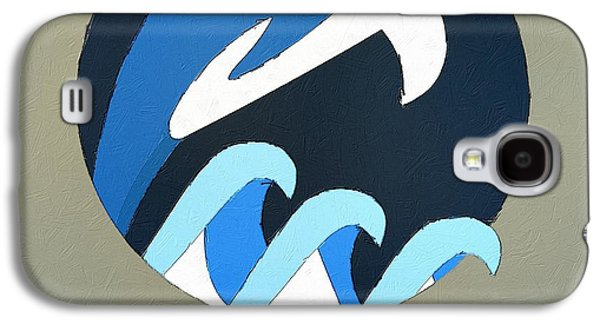 Dolphin Galaxy S4 Cases - The Dolphin Cute Portrait Galaxy S4 Case by Florian Rodarte