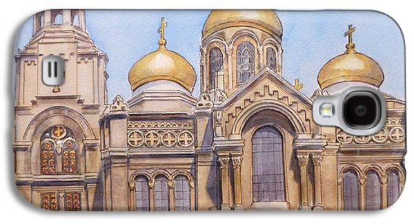 Orthodox Paintings Galaxy S4 Cases - The Dormition of the Mother of God Cathedral  Varna Bulgaria Galaxy S4 Case by Henrieta Maneva