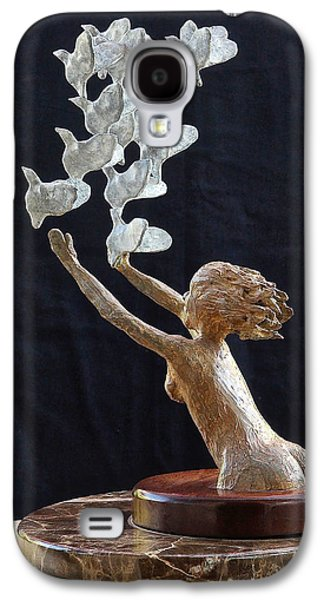 People Sculptures Galaxy S4 Cases - The Dove Maiden Galaxy S4 Case by Dan Redmon