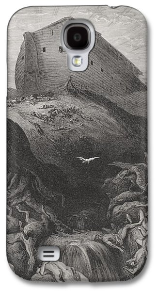 The Dove Sent Forth From The Ark, Genesis 138-9, Illustration From Dores The Holy Bible, 1866 Galaxy S4 Case by Gustave Dore