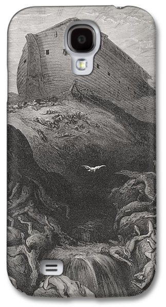 Rocks Drawings Galaxy S4 Cases - The Dove Sent Forth From The Ark Galaxy S4 Case by Gustave Dore
