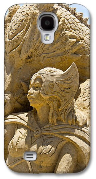 Warrior Goddess Photographs Galaxy S4 Cases - The Dragon and The Goddess Galaxy S4 Case by Tom Gari Gallery-Three-Photography