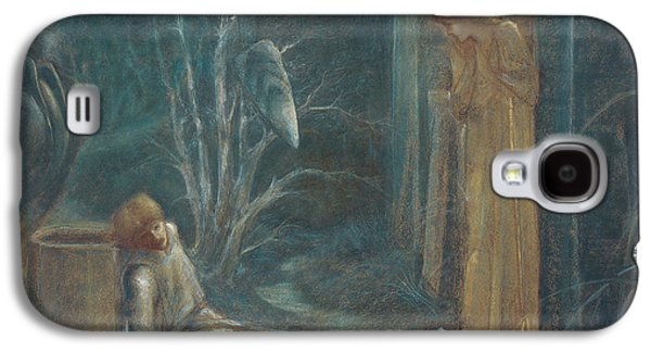 Blue Pastels Galaxy S4 Cases - The Dream of Lancelot Galaxy S4 Case by Sir Edward Burne-Jones