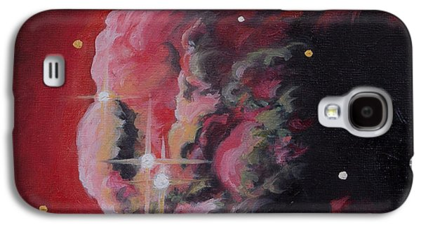 Constellations Paintings Galaxy S4 Cases - The Dream of Monoceros Cone Nebula Galaxy S4 Case by Julie Kanapaux