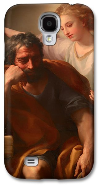 Christian work Paintings Galaxy S4 Cases - The Dream of St Joseph Galaxy S4 Case by Anton Mengs