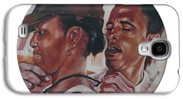 Michelle Obama Paintings Galaxy S4 Cases - The Dream Team Galaxy S4 Case by Belle Massey