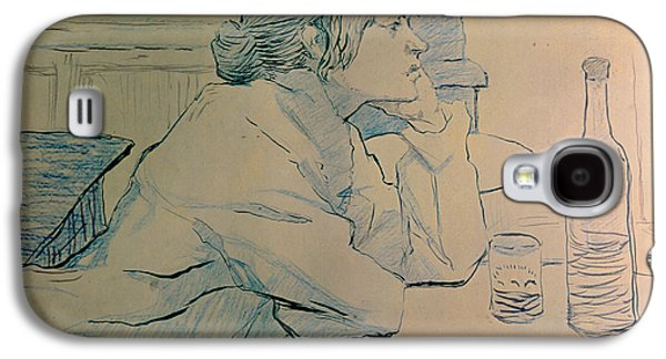 Thought Galaxy S4 Cases - The Drinker or an Hangover Galaxy S4 Case by Henri de Toulouse-lautrec