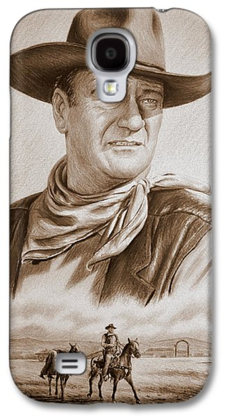 1950s Portraits Galaxy S4 Cases - The Duke Captured sepia grain Galaxy S4 Case by Andrew Read