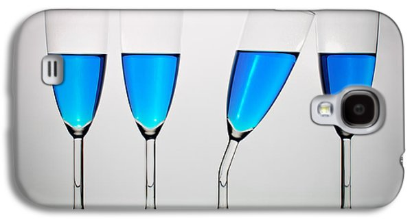 Champagne Glasses Galaxy S4 Cases - The Eccentric Galaxy S4 Case by Gert Lavsen