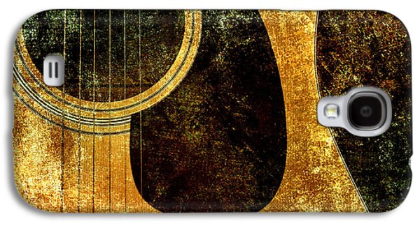 Abstract Digital Mixed Media Galaxy S4 Cases - The Edgy Abstract Guitar Square Galaxy S4 Case by Andee Design