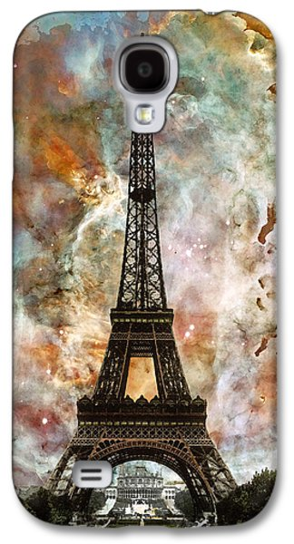 Abstract Landscape Galaxy S4 Cases - The Eiffel Tower - Paris France Art By Sharon Cummings Galaxy S4 Case by Sharon Cummings